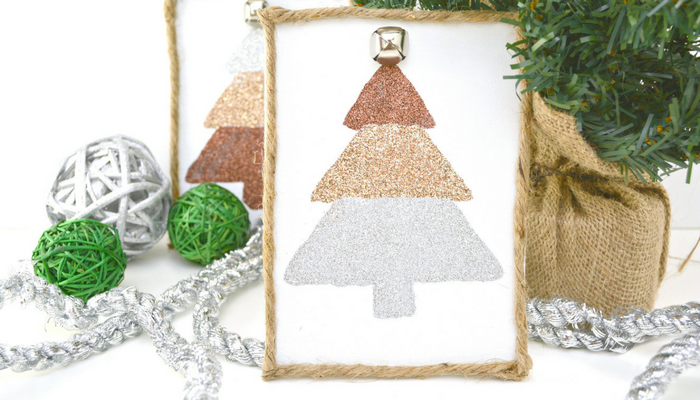 DIY Glitter Christmas Tree Craft