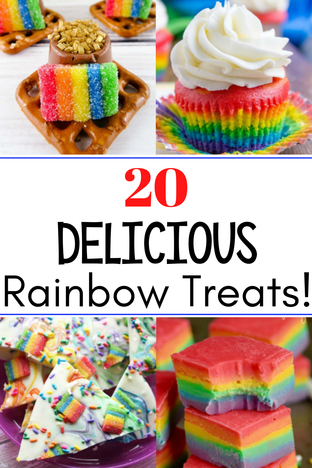 Rainbow Treats will brighten up the darkest and rainiest of days! Quick and easy recipes for the whole family!