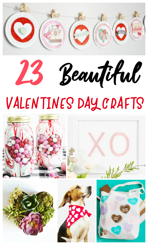 25 Beautiful Valentines Day Crafts that will help spruce up your home for the holiday!